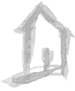 gray stylized house logo